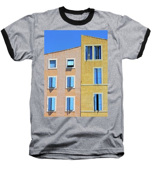 Baseball T-Shirt featuring the photograph Windows Martigues Provence France by Dave Mills