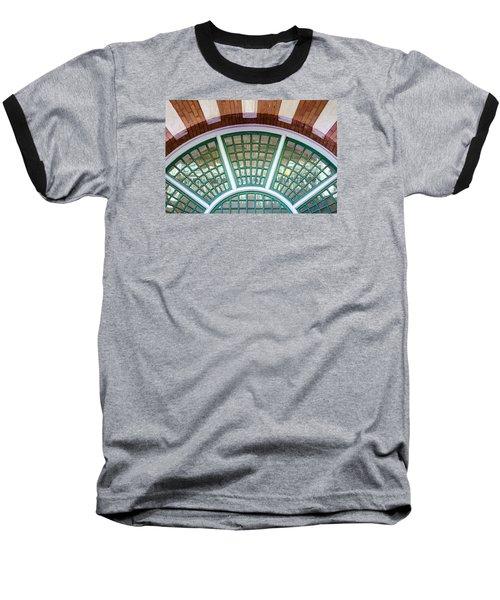 Windows Of Ybor Baseball T-Shirt by Carolyn Marshall