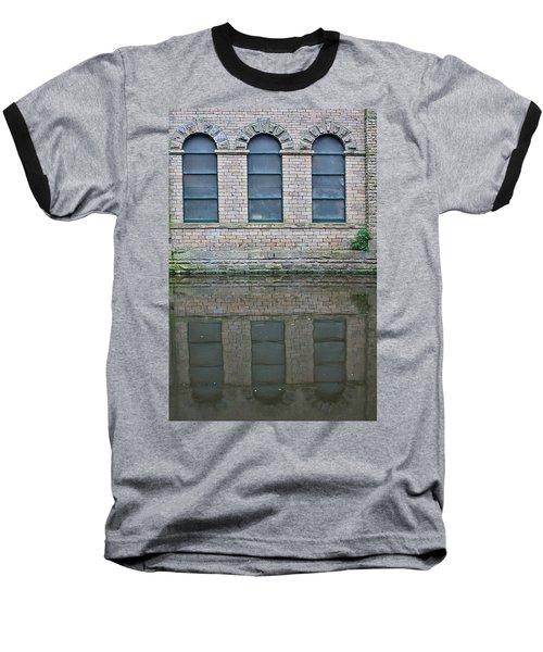 Windows Reflected In Water Baseball T-Shirt