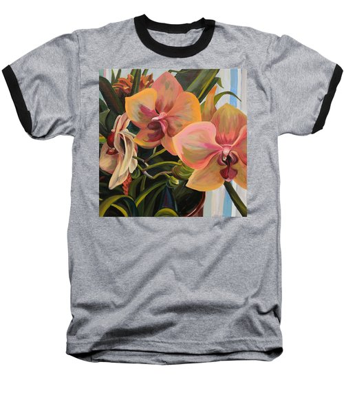 Windowsill Orchids Baseball T-Shirt