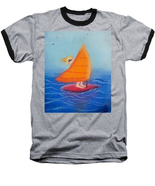 Windsurfer Dude Baseball T-Shirt