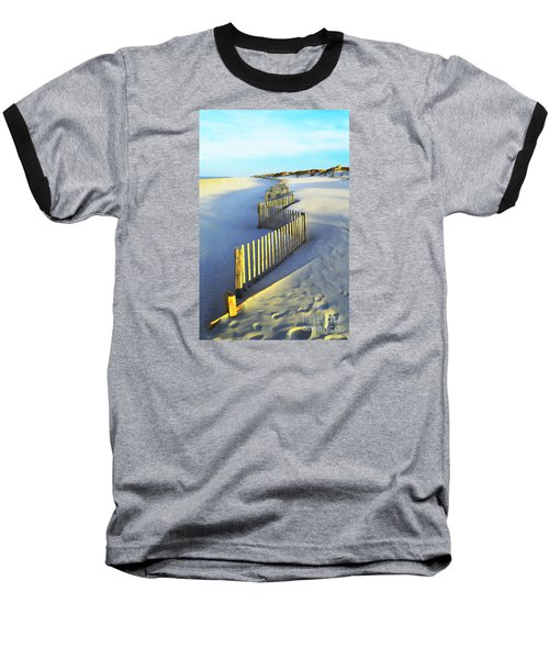 Windswept At Sunset - Jersey Shore Baseball T-Shirt