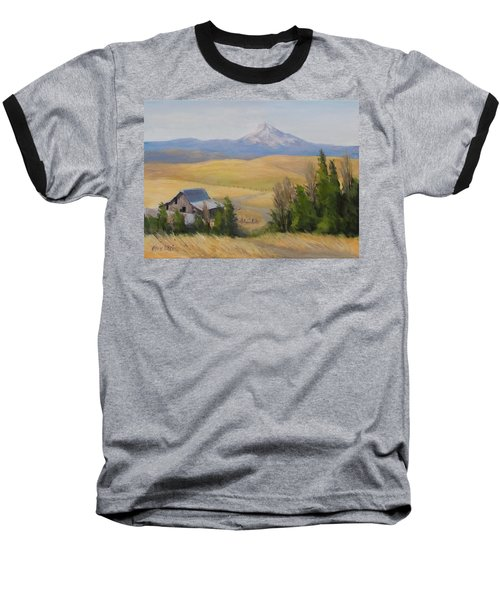 Baseball T-Shirt featuring the painting Windswept by Karen Ilari