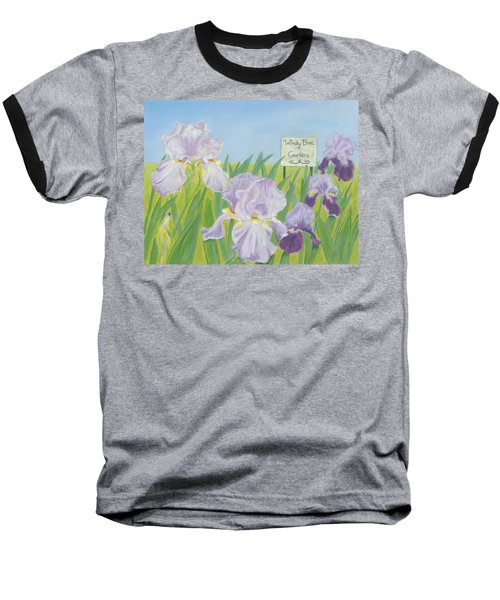 Baseball T-Shirt featuring the painting Windy Brae Gardens by Arlene Crafton