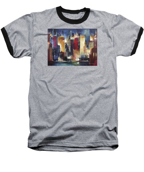 Windy City Nights Baseball T-Shirt by Kathleen Patrick