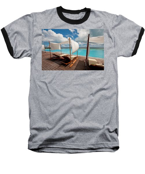 Windy Day At Maldives Baseball T-Shirt by Jenny Rainbow