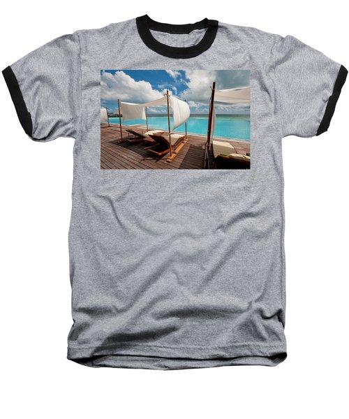 Windy Day At Maldives Baseball T-Shirt