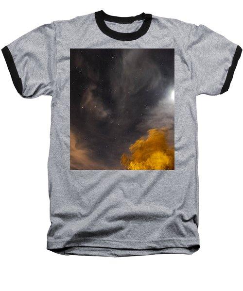 Baseball T-Shirt featuring the photograph Windy Night by Angela J Wright