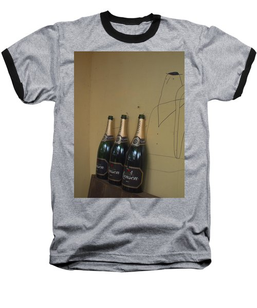 Baseball T-Shirt featuring the photograph Wine And A Man by Rachel Mirror