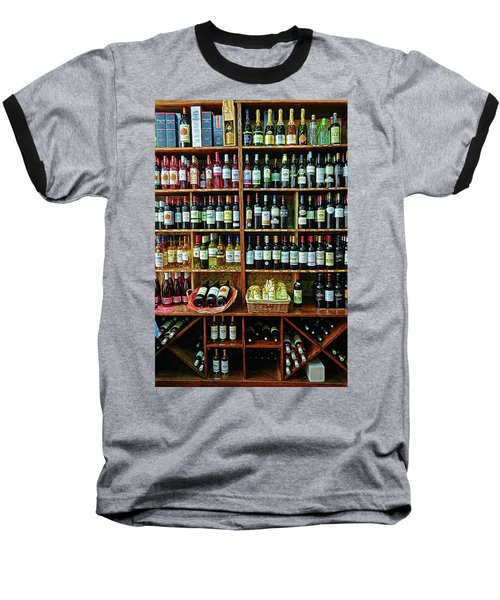 Baseball T-Shirt featuring the photograph Wine Store Provence France by Dave Mills
