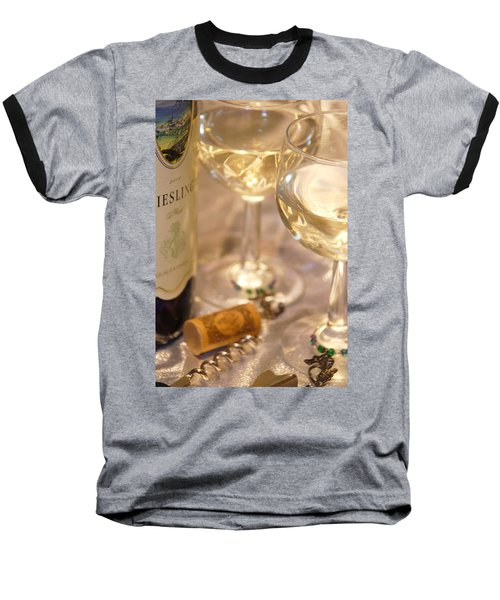 Wine With Friends Baseball T-Shirt