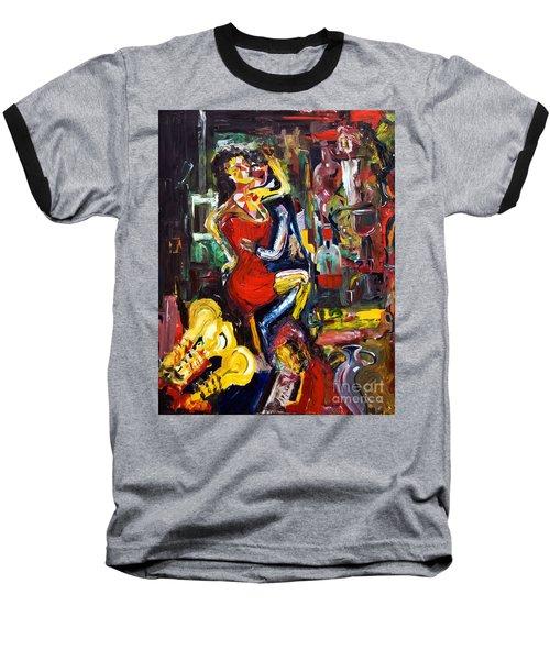 Wine Woman And Music Baseball T-Shirt