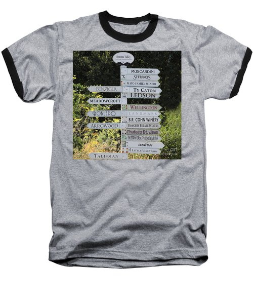 Winery Street Sign In The Sonoma California Wine Country 5d24601 Square Baseball T-Shirt