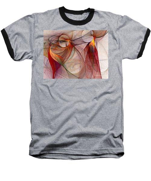 Winged-abstract Art Baseball T-Shirt