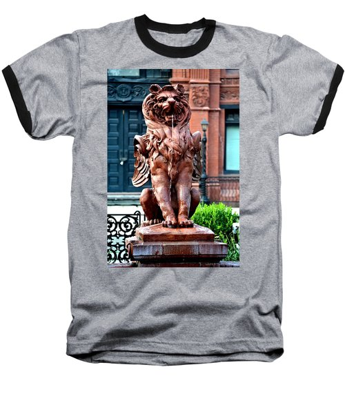 Winged Lion Fountain Baseball T-Shirt