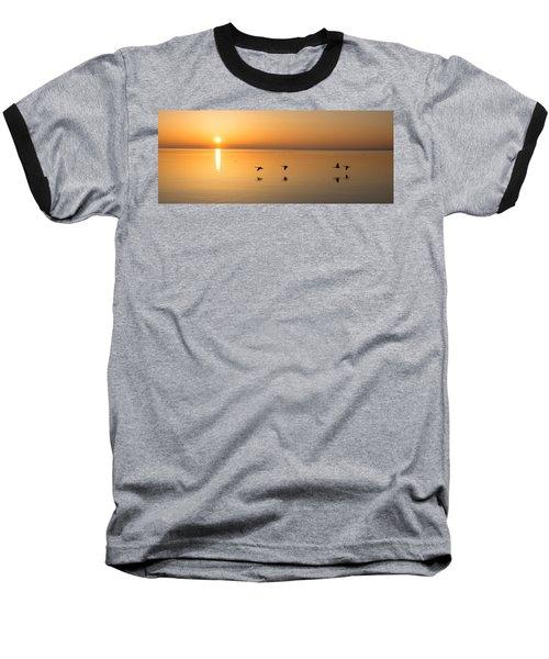 Baseball T-Shirt featuring the photograph Wings At Sunrise by Georgia Mizuleva