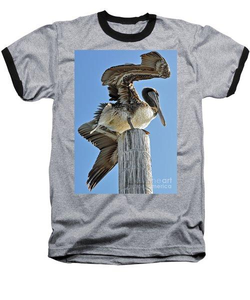 Wings Of A Pelican Baseball T-Shirt by Susan Wiedmann