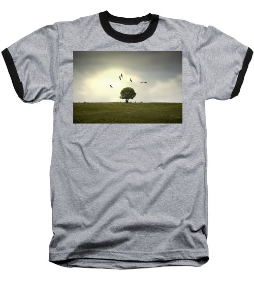 Wings Over The Tree Baseball T-Shirt