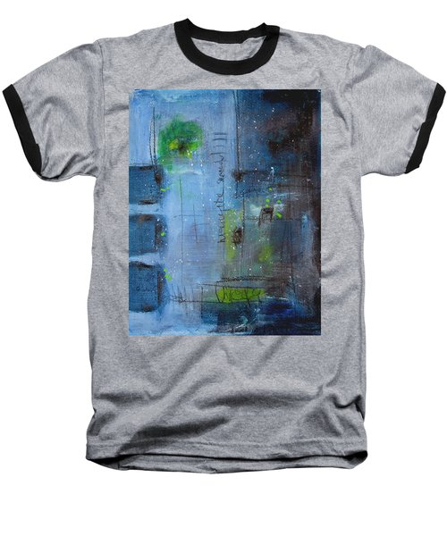 Baseball T-Shirt featuring the painting Winter 2 by Nicole Nadeau