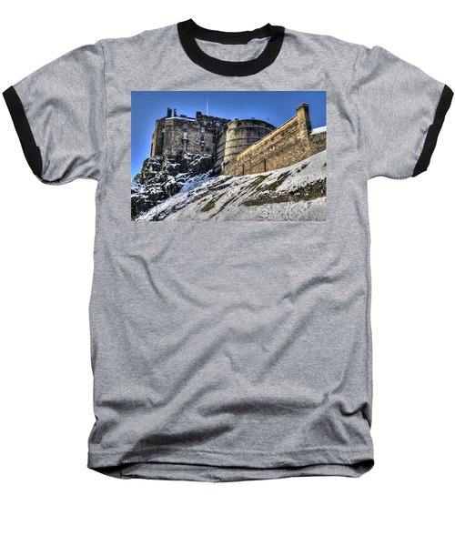 Winter At Edinburgh Castle Baseball T-Shirt