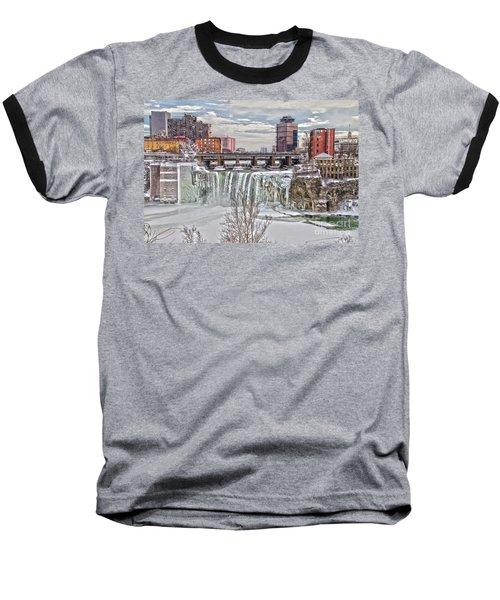 Winter At High Falls Baseball T-Shirt