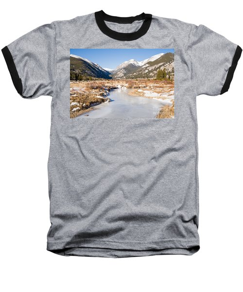 Winter At Horseshoe Park In Rocky Mountain National Park Baseball T-Shirt