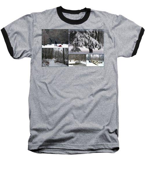 Baseball T-Shirt featuring the photograph Winter At Petrifying Springs Park by Kay Novy