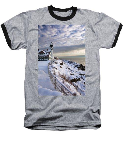 Winter At Portland Head Baseball T-Shirt
