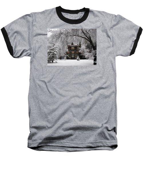 Winter At The Ahwahnee In Yosemite Baseball T-Shirt by Carla Parris