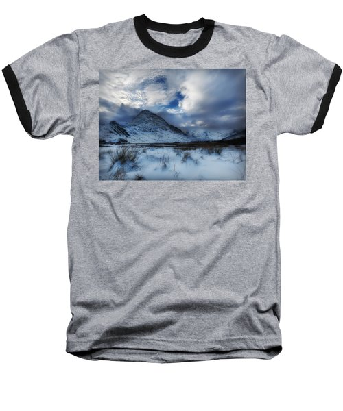 Winter At Tryfan Baseball T-Shirt