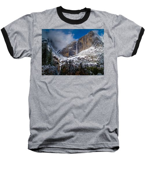 Winter At Yosemite Falls Baseball T-Shirt