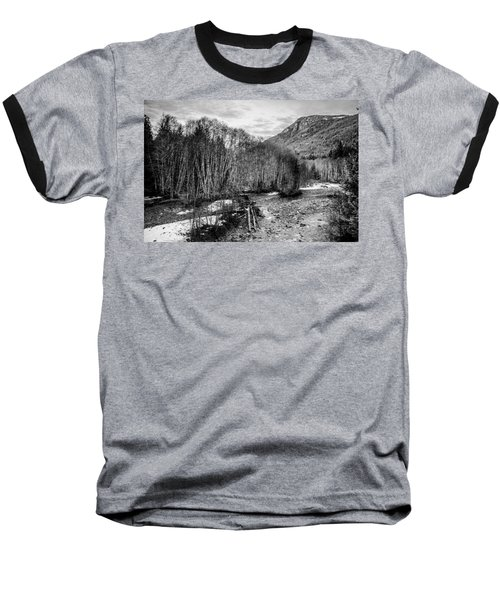 Winter Backroads Englishman River Baseball T-Shirt