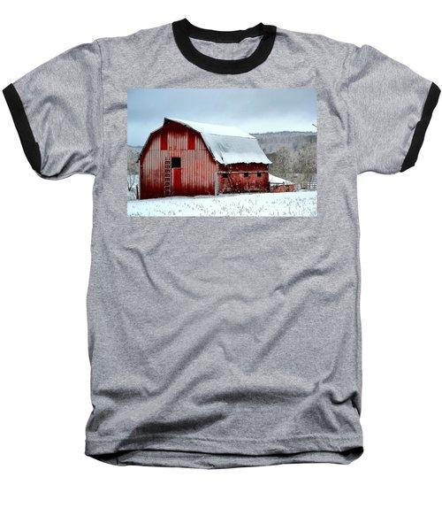 Baseball T-Shirt featuring the photograph Winter Barn by Deena Stoddard