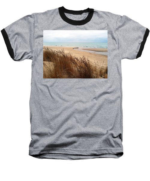 Winter Beach At Pier Cove Baseball T-Shirt