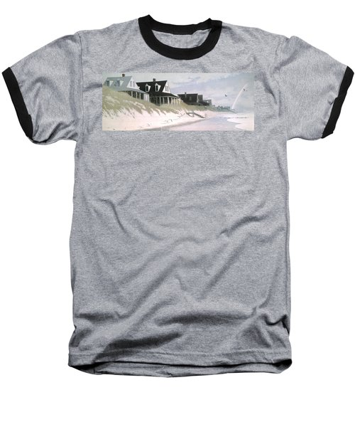 Winter Beach Baseball T-Shirt by Blue Sky