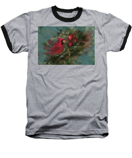 Winter Berries Baseball T-Shirt by Lee Beuther