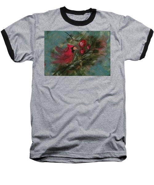 Winter Berries Baseball T-Shirt