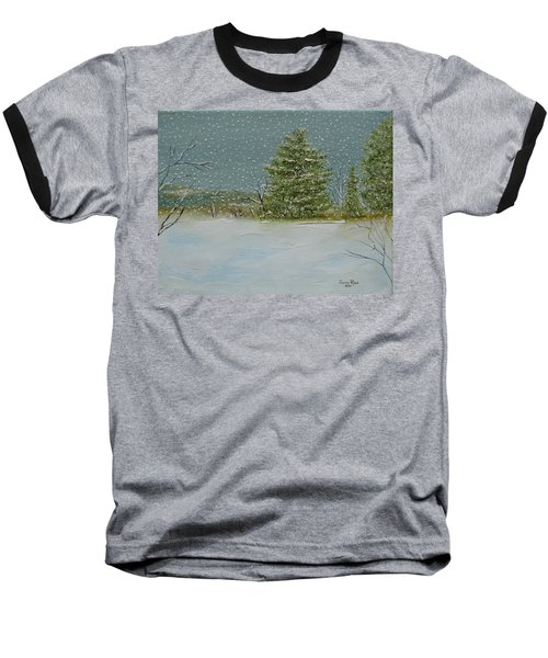 Baseball T-Shirt featuring the painting Winter Blanket by Judith Rhue