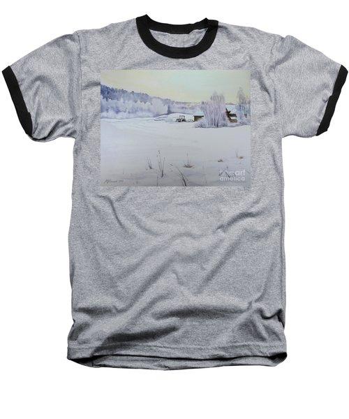 Winter Blanket Baseball T-Shirt by Martin Howard