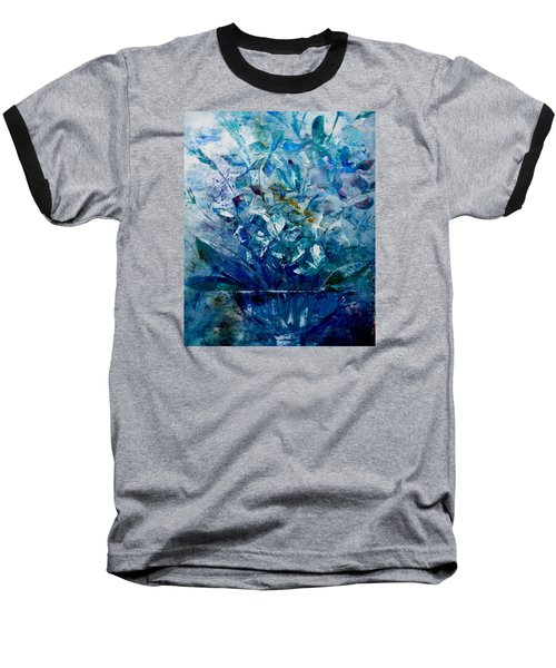 Baseball T-Shirt featuring the painting Winter Bouquet by Lisa Kaiser