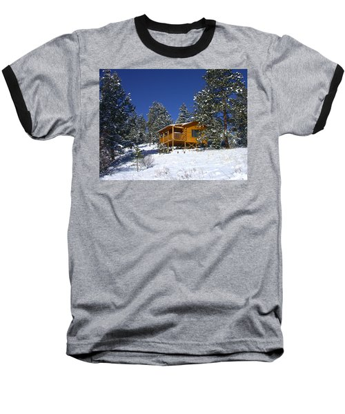 Winter Cabin Baseball T-Shirt