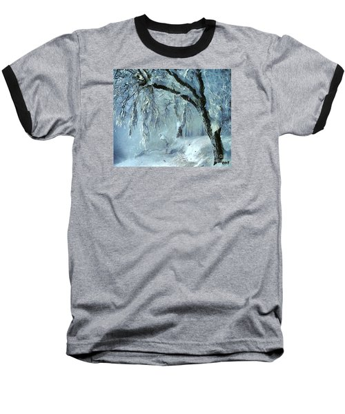 Baseball T-Shirt featuring the painting Winter Dreams by Dragica  Micki Fortuna