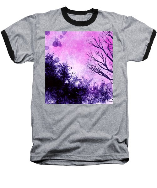 Baseball T-Shirt featuring the painting Winter Dreams  by Persephone Artworks