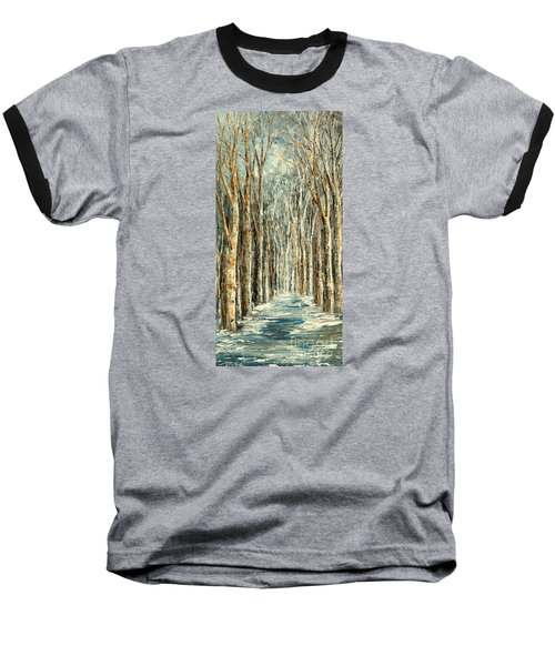 Winter Dreams Baseball T-Shirt by Tatiana Iliina
