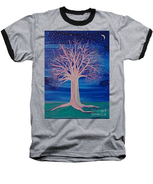 Winter Fantasy Tree Baseball T-Shirt