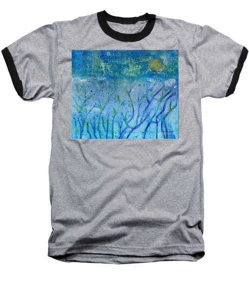 Winter Forest In Moonlight Baseball T-Shirt