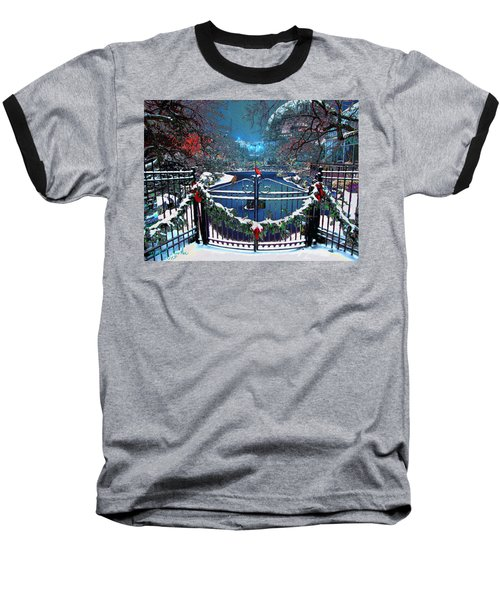 Baseball T-Shirt featuring the digital art Winter Garden by Michael Rucker