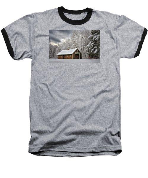 Winter Glow Baseball T-Shirt by Tricia Marchlik