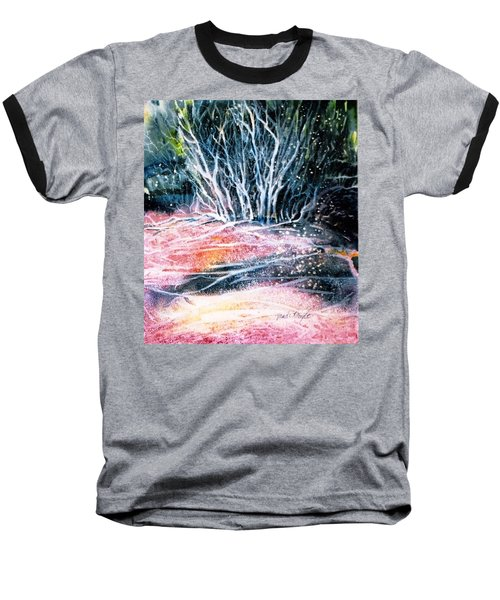 Baseball T-Shirt featuring the painting Winter Habitat No.1 by Trudi Doyle