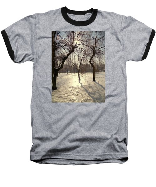 Willows In Winter Baseball T-Shirt by Henryk Gorecki